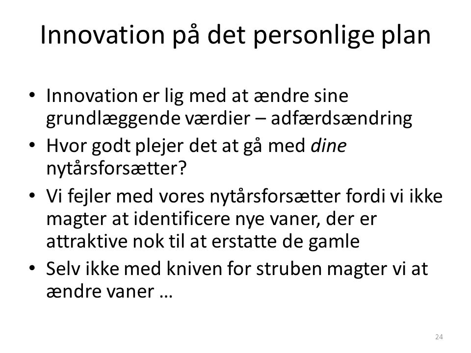 Innovation på det personlige plan