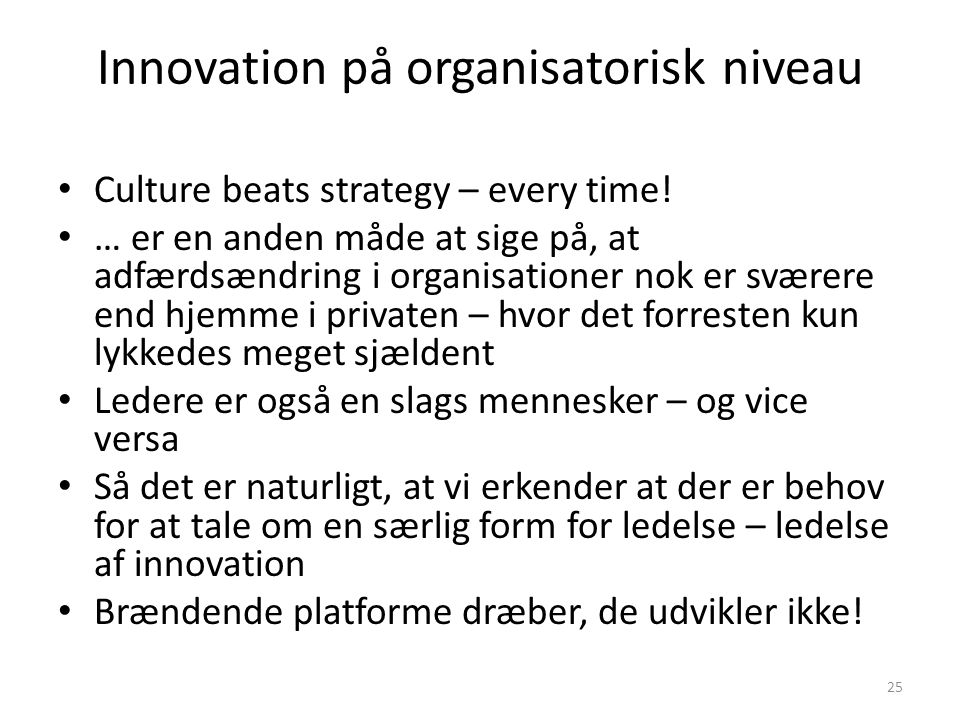 Innovation på organisatorisk niveau