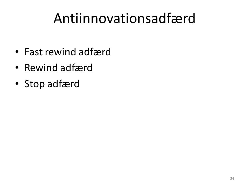 Antiinnovationsadfærd