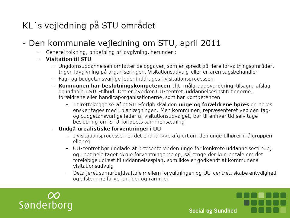 KL´s vejledning på STU området - fortsat
