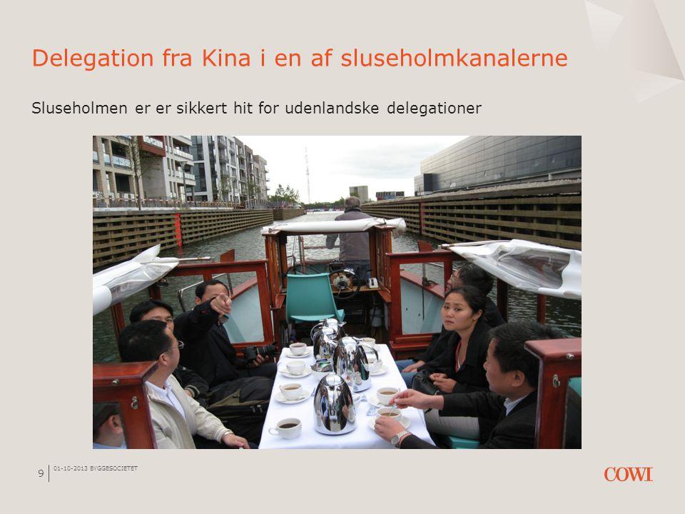 Delegation fra Kina i en af sluseholmkanalerne Sluseholmen er er sikkert hit for udenlandske delegationer