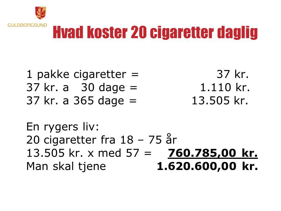 Hvad koster 20 cigaretter daglig