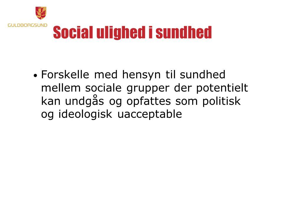 Social ulighed i sundhed