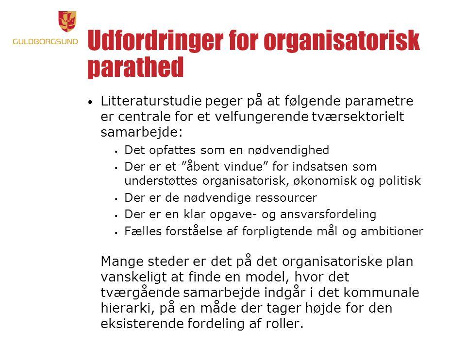 Udfordringer for organisatorisk parathed
