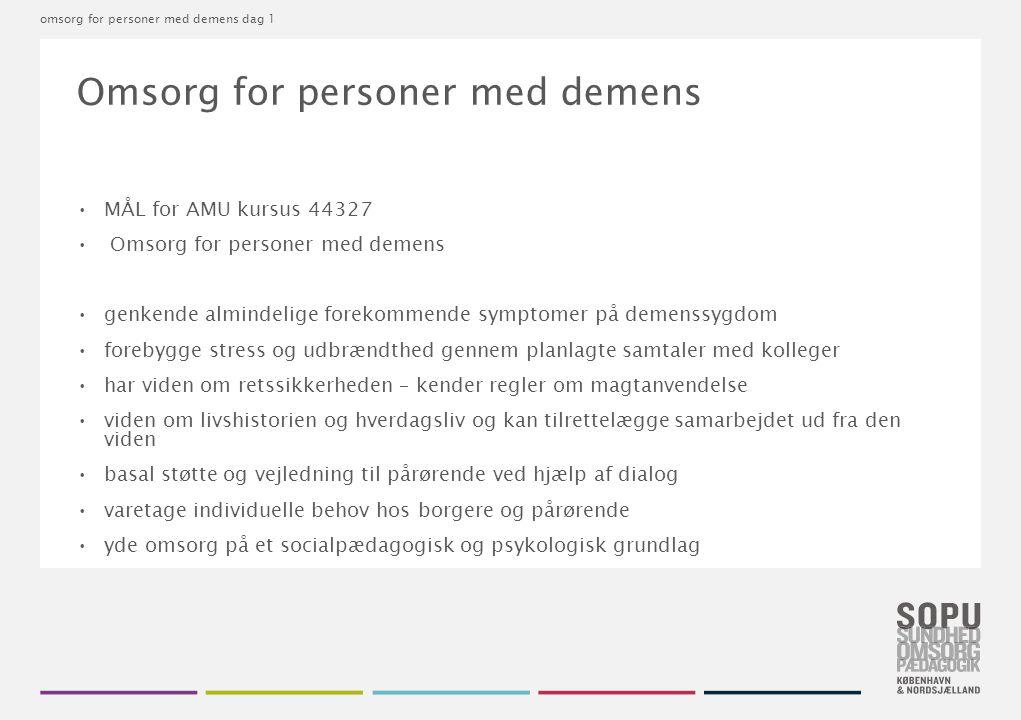 Omsorg for personer med demens
