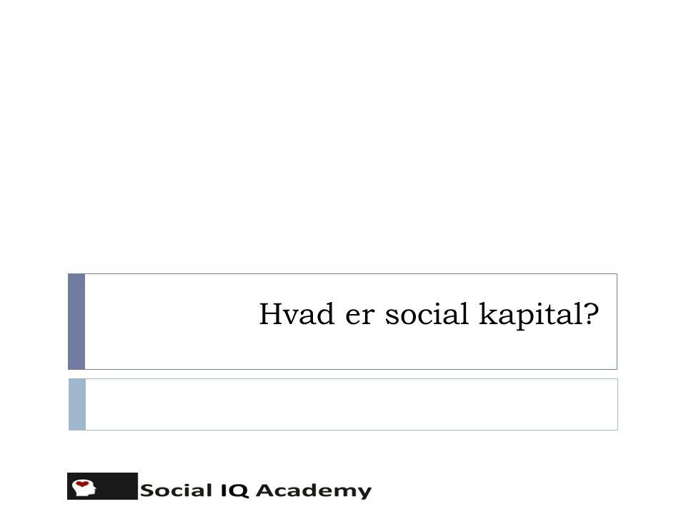 Hvad er social kapital