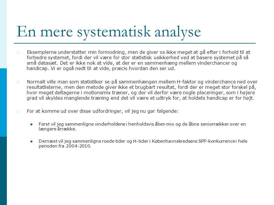 En mere systematisk analyse