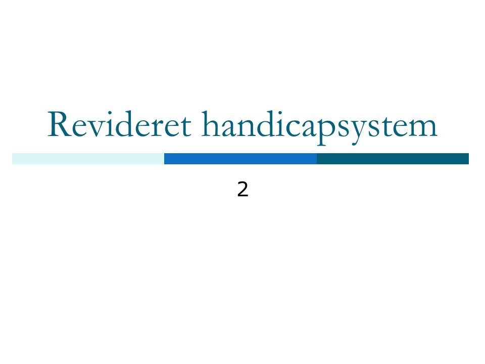 Revideret handicapsystem