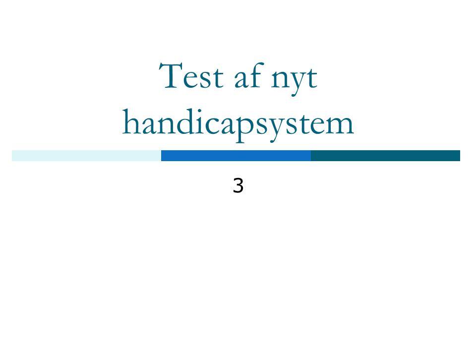 Test af nyt handicapsystem
