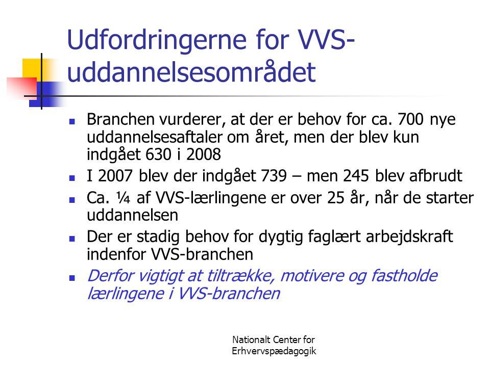 Udfordringerne for VVS-uddannelsesområdet