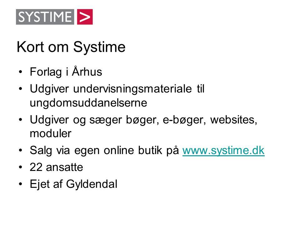 Kort om Systime Forlag i Århus