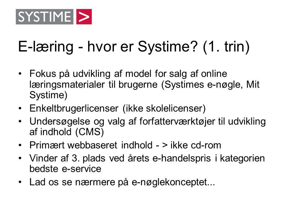 E-læring - hvor er Systime (1. trin)