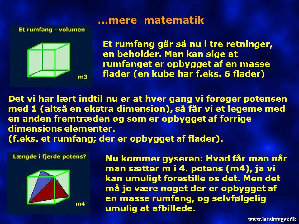 …mere matematik