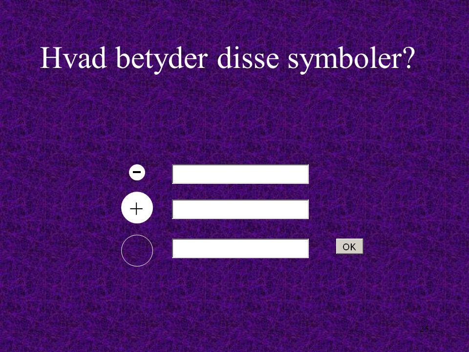 Hvad betyder disse symboler