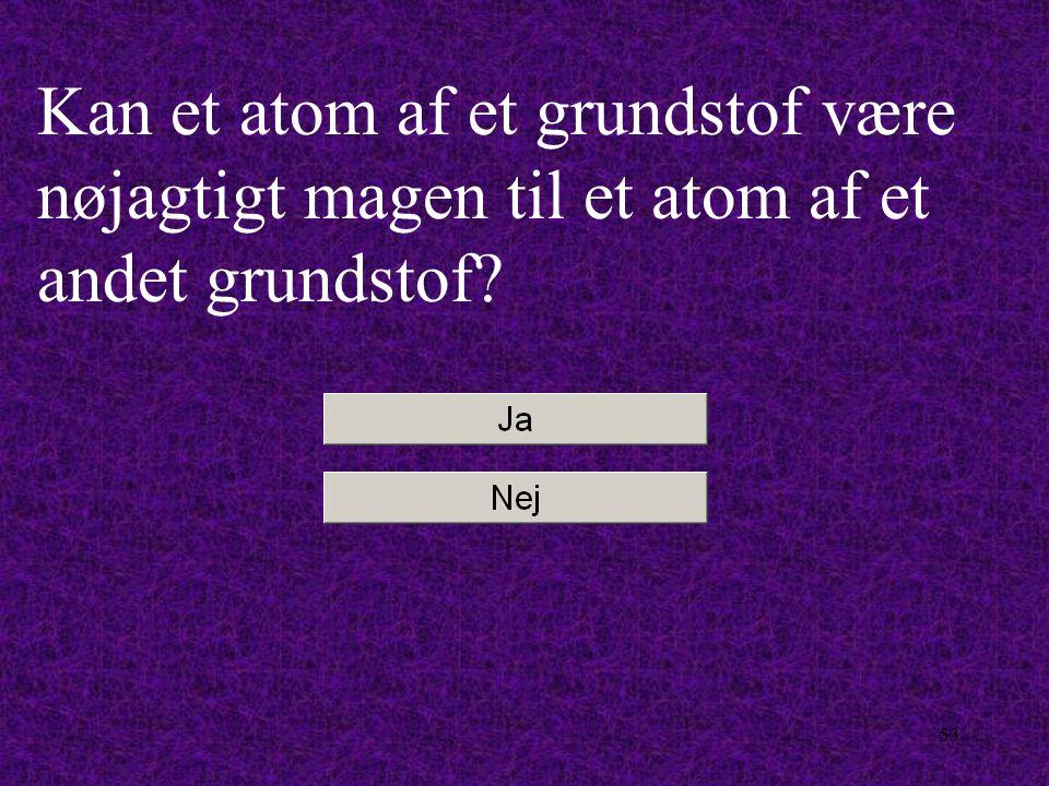 Kan et atom af et grundstof være nøjagtigt magen til et atom af et andet grundstof