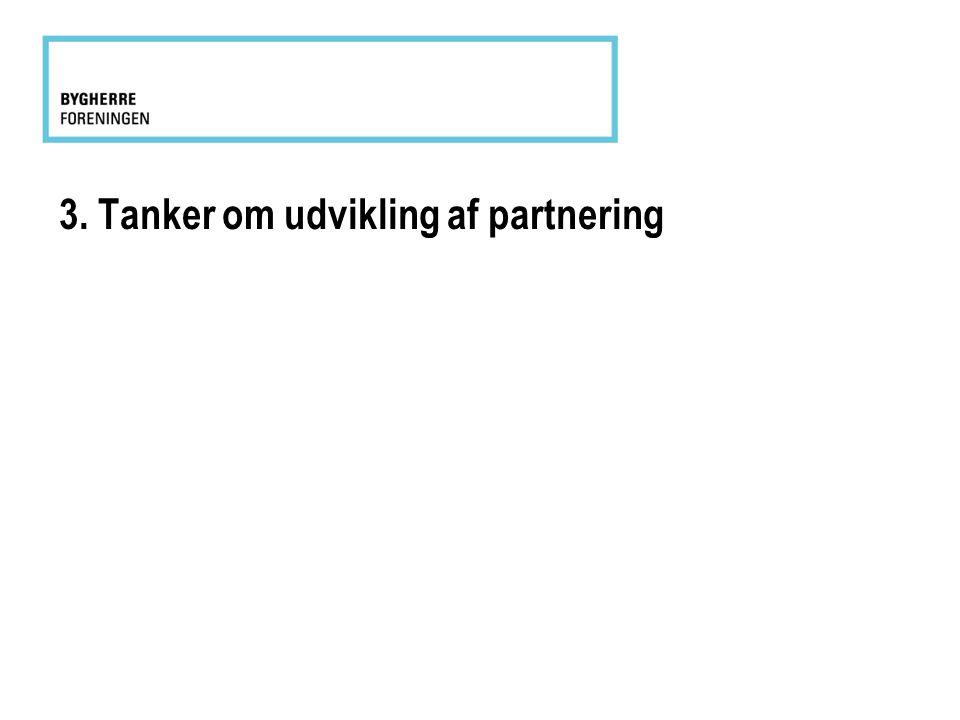 3. Tanker om udvikling af partnering