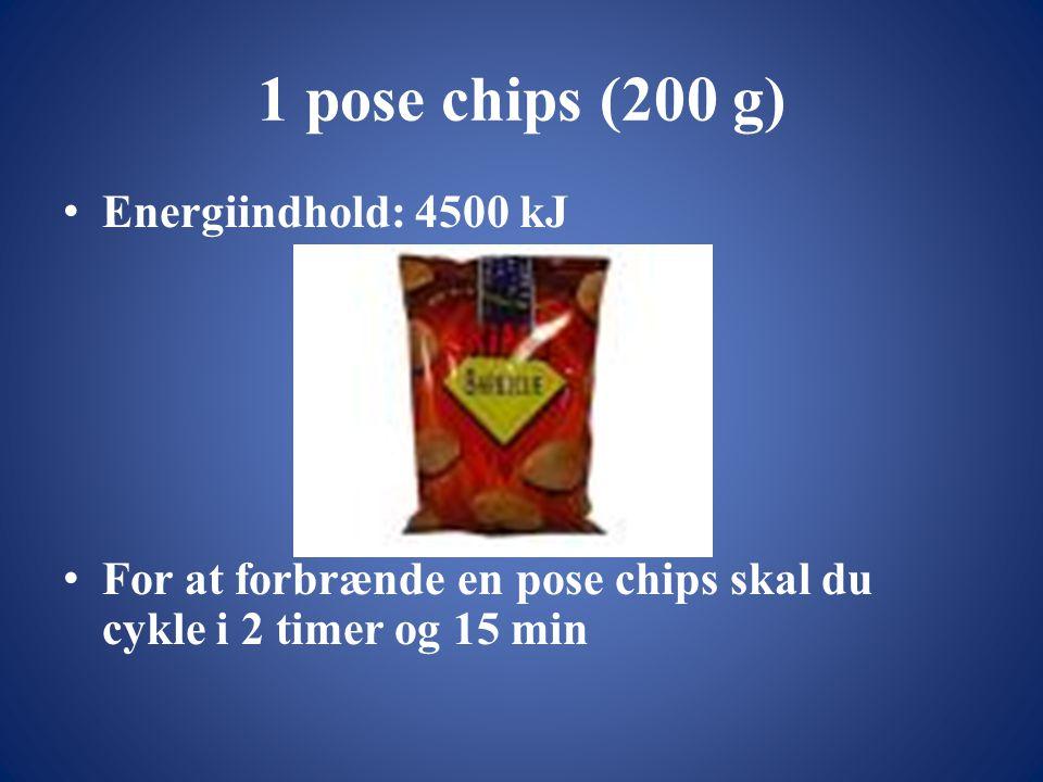 1 pose chips (200 g) Energiindhold: 4500 kJ