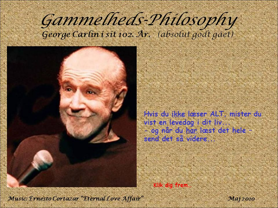Gammelheds-Philosophy