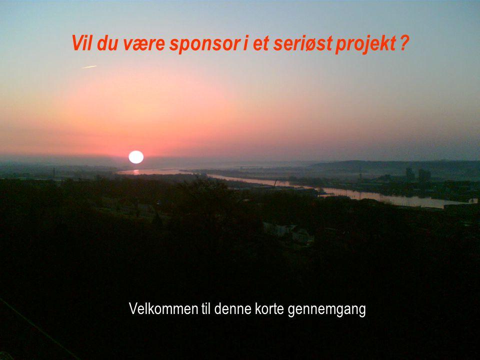 Vil du være sponsor i et seriøst projekt