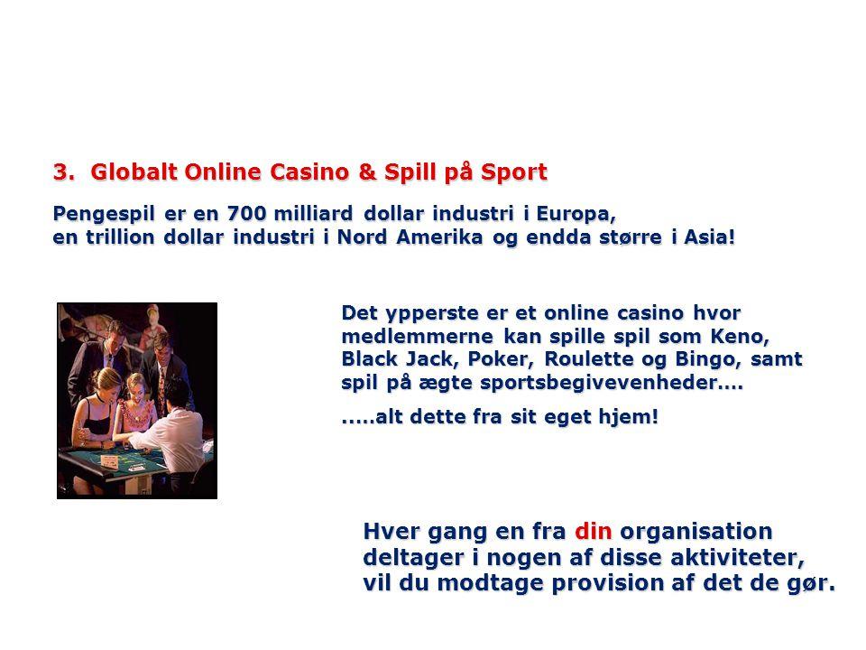 3. Globalt Online Casino & Spill på Sport