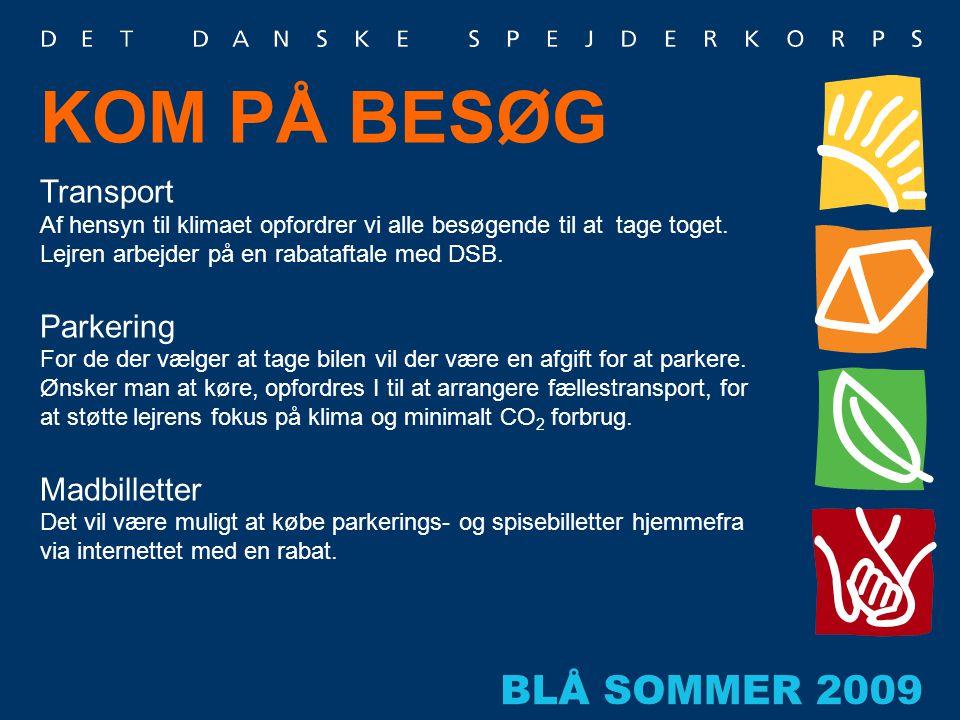KOM PÅ BESØG Transport Parkering Madbilletter