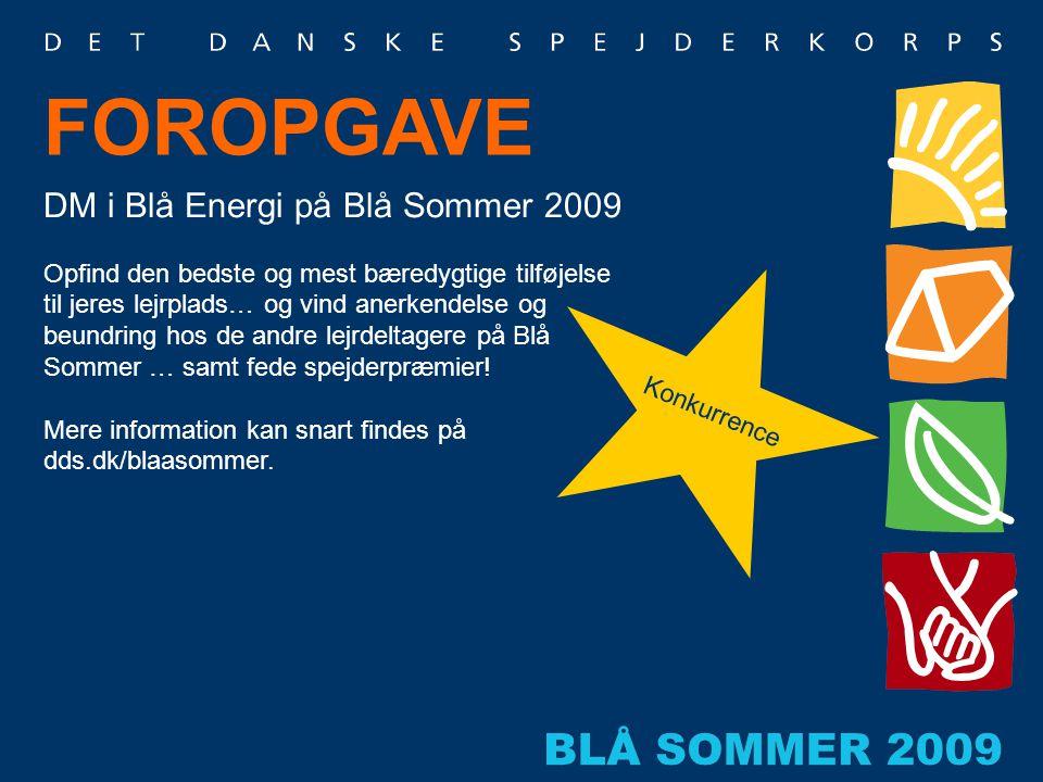 FOROPGAVE DM i Blå Energi på Blå Sommer 2009