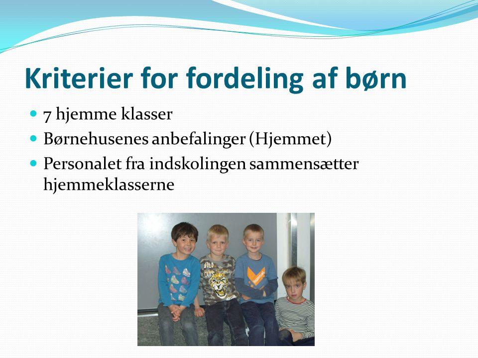 Kriterier for fordeling af børn