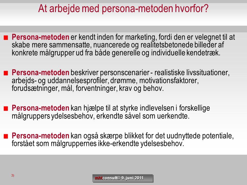 At arbejde med persona-metoden hvorfor