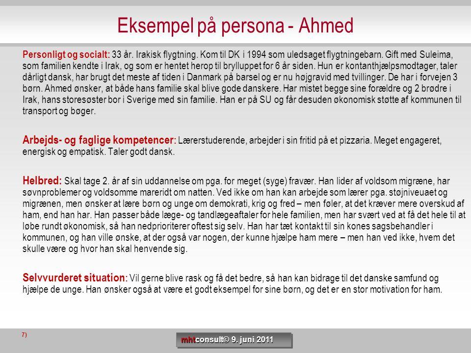 Eksempel på persona - Ahmed