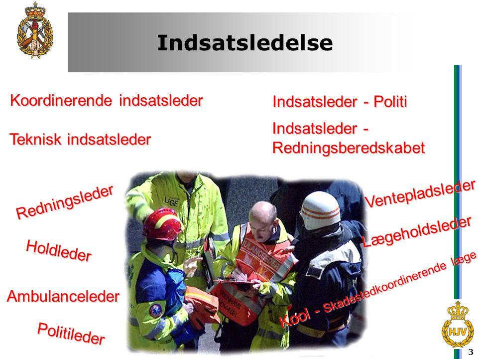 Indsatsledelse Koordinerende indsatsleder Indsatsleder - Politi