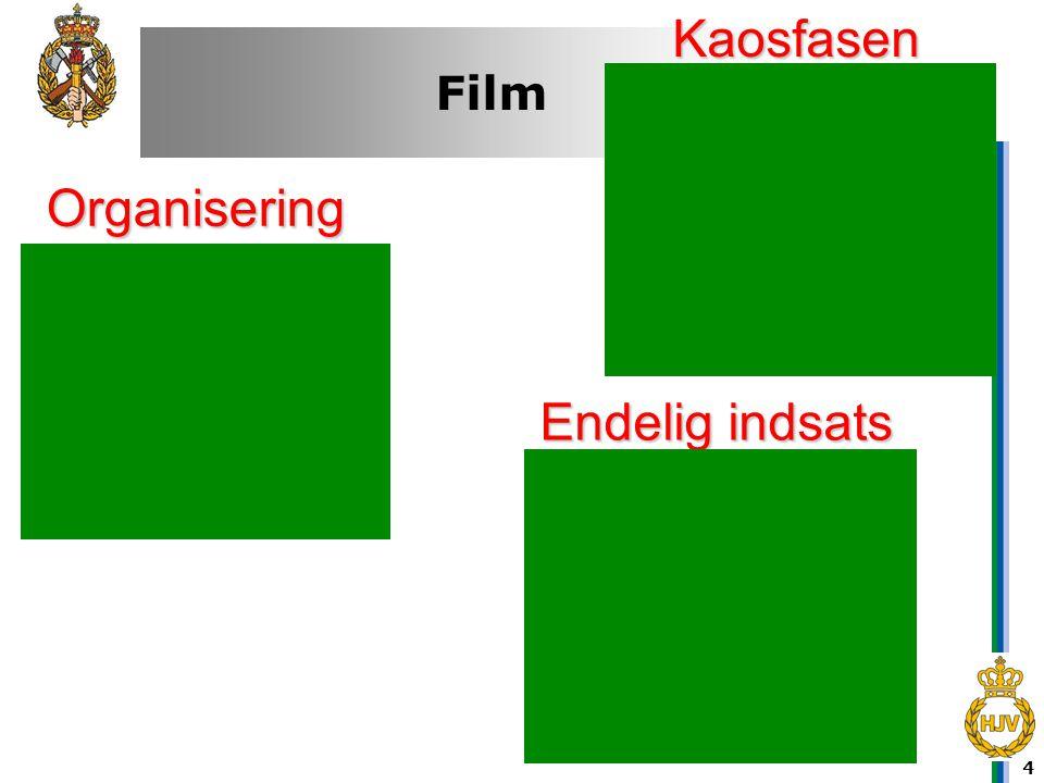 Kaosfasen Organisering Endelig indsats Film