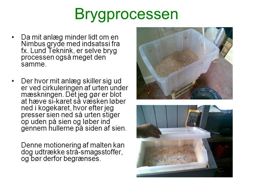 Brygprocessen Da mit anlæg minder lidt om en Nimbus gryde med indsatssi fra fx. Lund Teknink, er selve bryg processen også meget den samme.