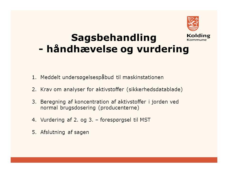 Sagsbehandling - håndhævelse og vurdering