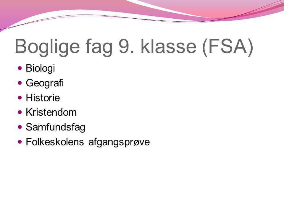 Boglige fag 9. klasse (FSA)