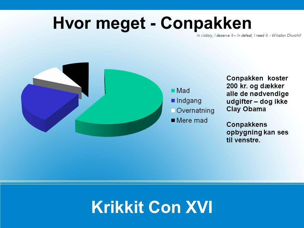 Hvor meget - Conpakken Krikkit Con XVI
