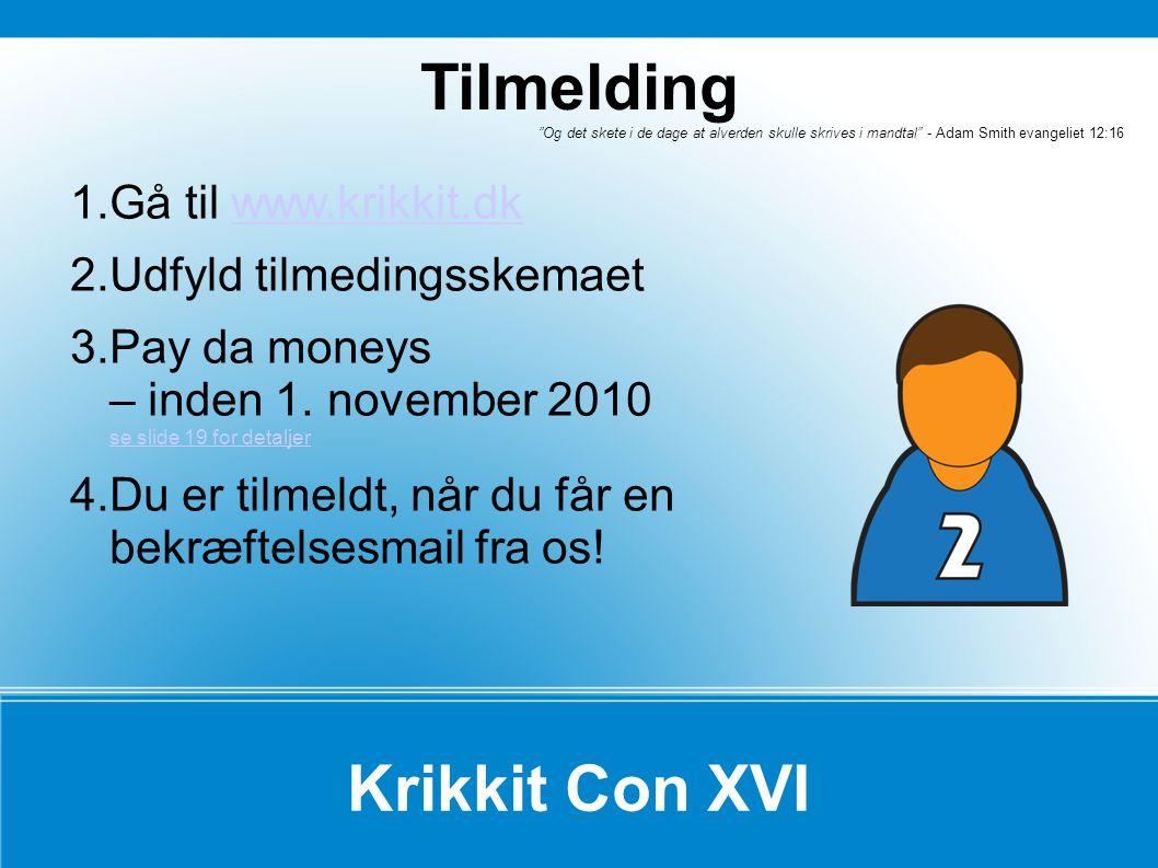 Tilmelding Krikkit Con XVI