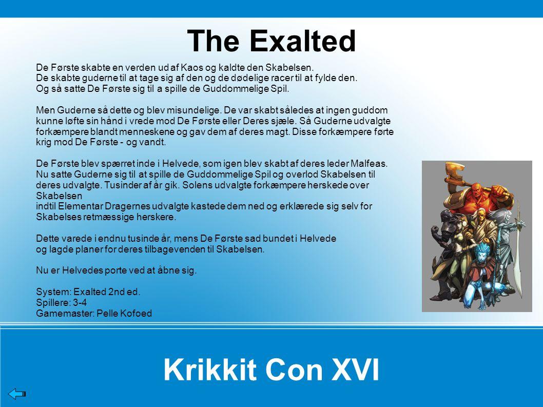 The Exalted Krikkit Con XVI