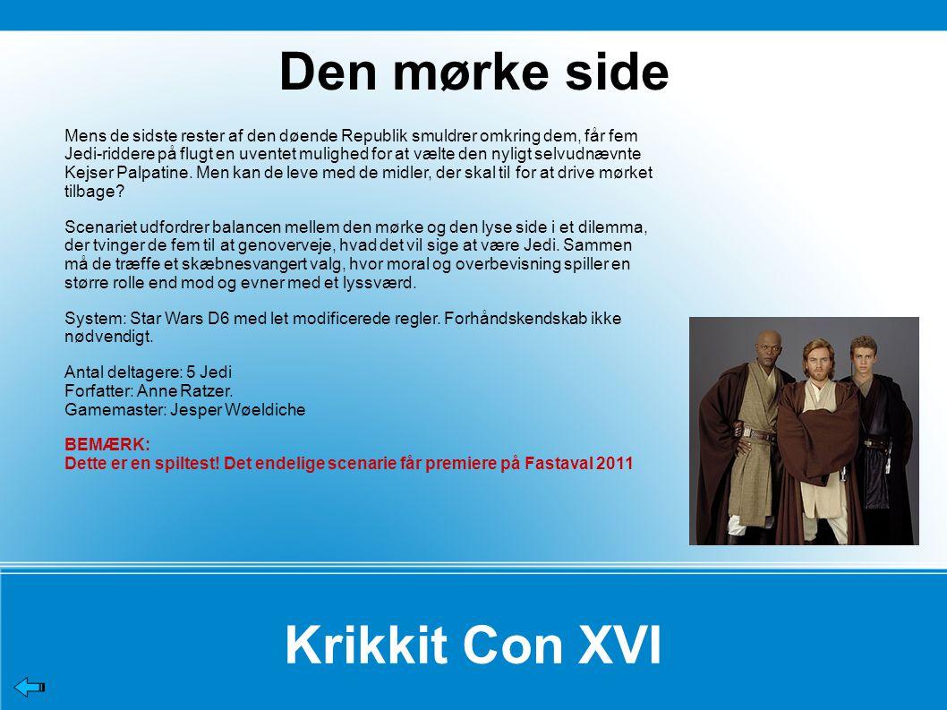 Den mørke side Krikkit Con XVI