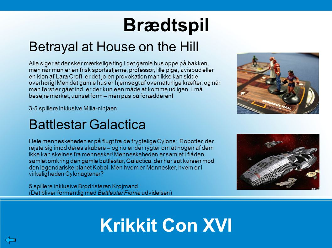 Brædtspil Krikkit Con XVI