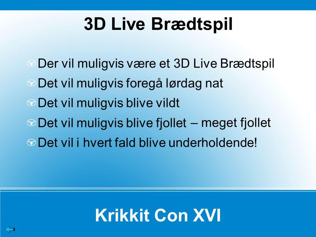 3D Live Brædtspil Krikkit Con XVI