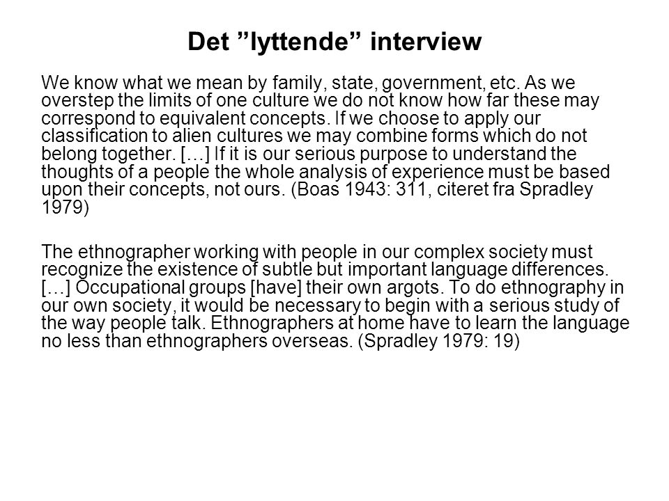 Det lyttende interview