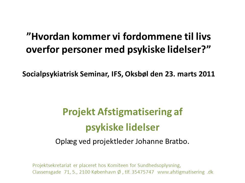 Projekt Afstigmatisering af