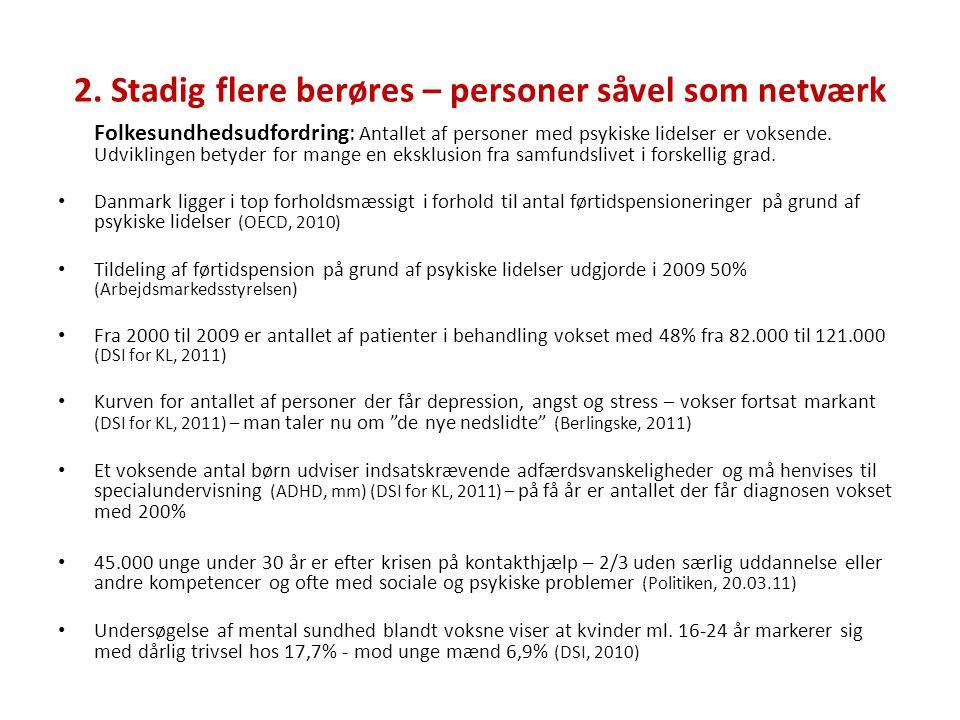 2. Stadig flere berøres – personer såvel som netværk