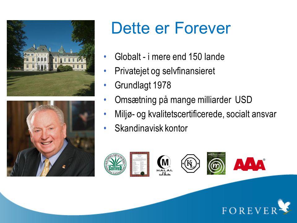 Dette er Forever Globalt - i mere end 150 lande