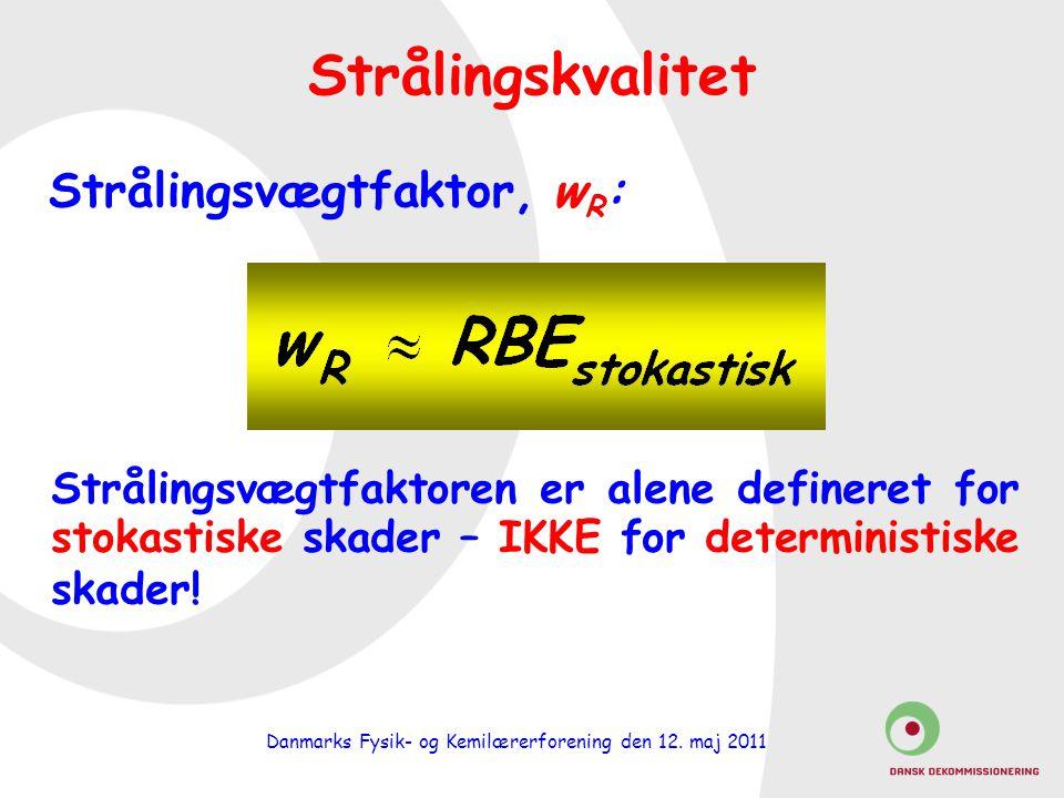 Strålingsvægtfaktor, wR: