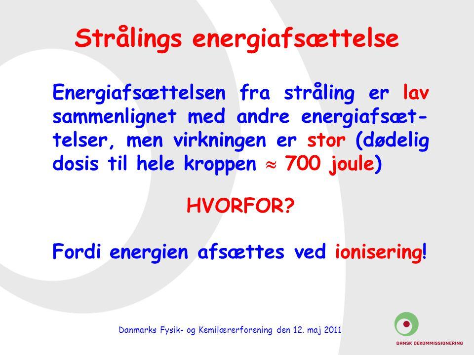 Strålings energiafsættelse