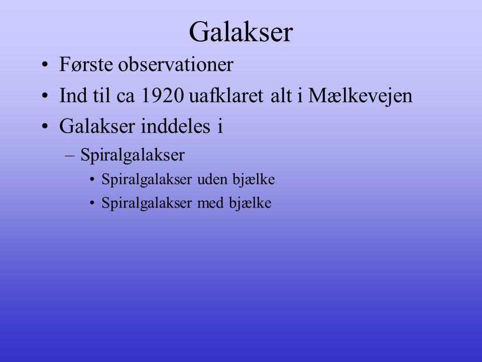 Galakser Første observationer