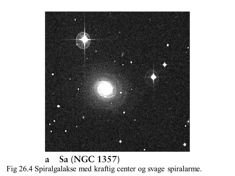 Fig 26.4 Spiralgalakse med kraftig center og svage spiralarme.