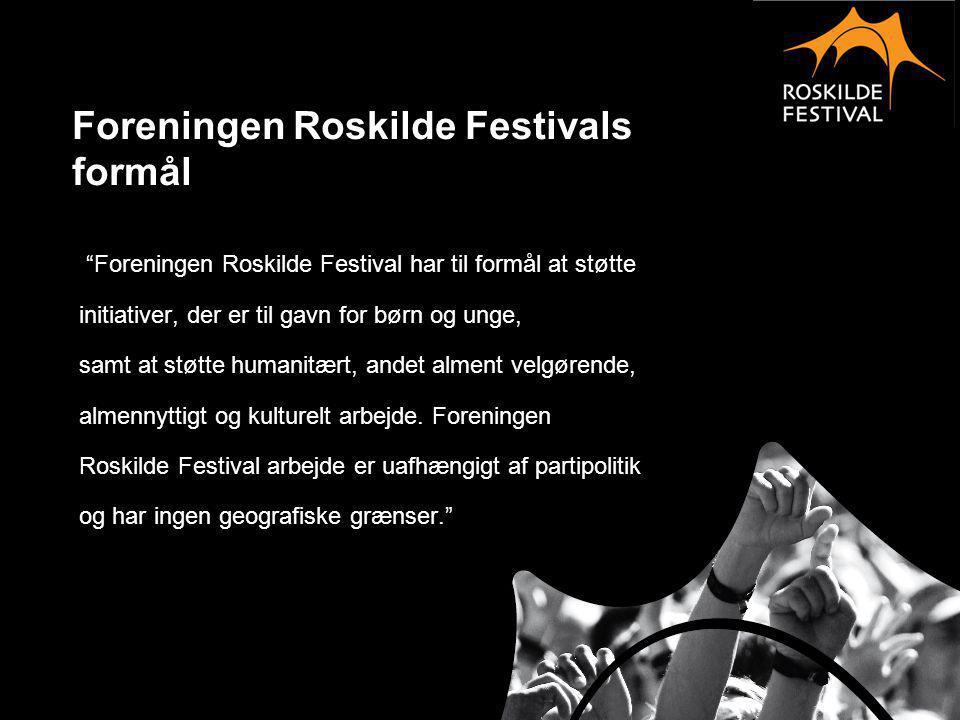 Foreningen Roskilde Festivals formål