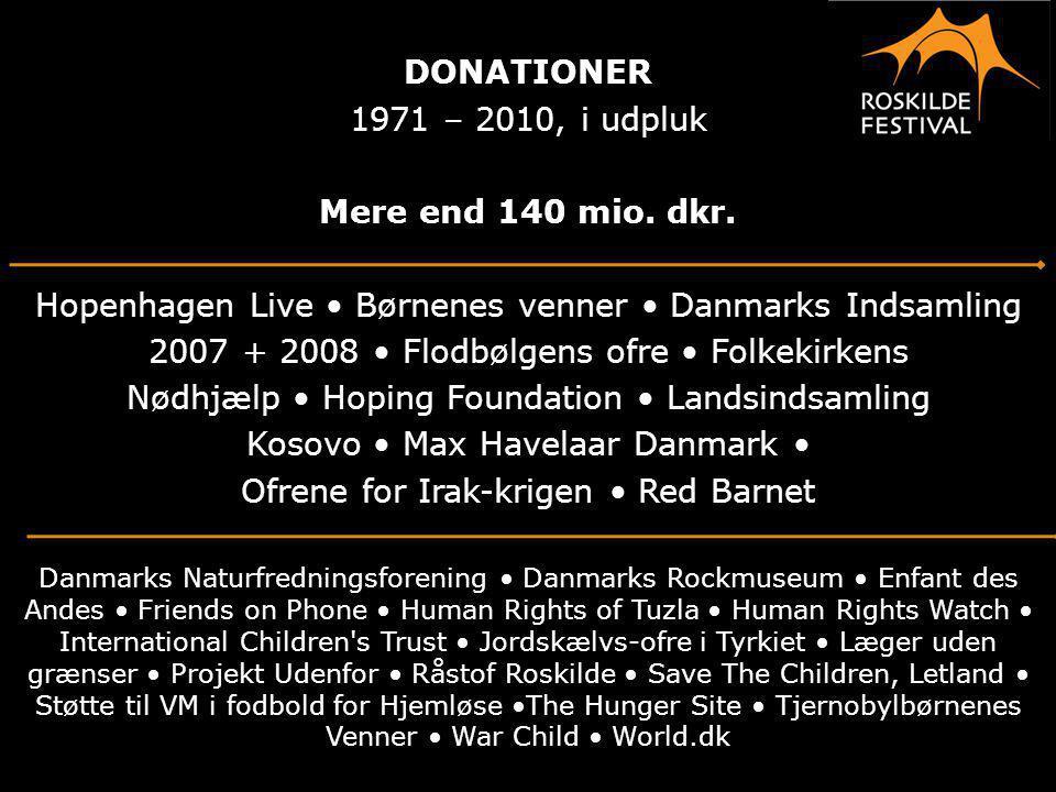 DONATIONER Mere end 140 mio. dkr.